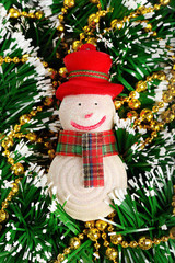New Year and Christmas toy Snowman