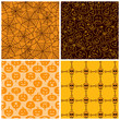 Halloween seamless patterns. Set of four
