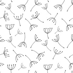 Dandelion seamless pattern for your design