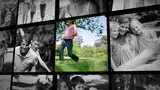 Three short clips about a family outdoors