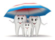3d Smiling tooth family protection - umbrella