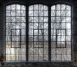 canvas print picture - Old window