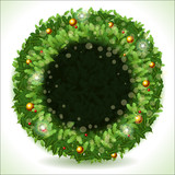 Wreath Christmas with Black Placeholder poster