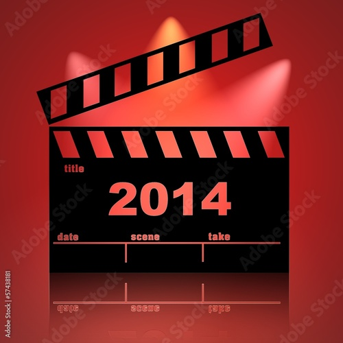 Clapperboard cinema 2014 fondo rojo