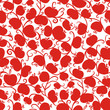Seamless pattern with red apples for your design