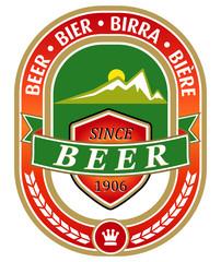 vector beer label