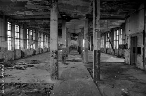 Abandoned factory hall - 57438918