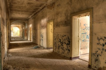 Old corridor in a Lost Place