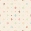 Color snowflakes and dots on beige textured background