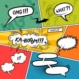 Comic Strip Speech Bubbles