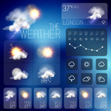 Modern Weather symbols and Interface design