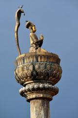 King Yoganarendra Malla bronze statue. Patan, Nepal
