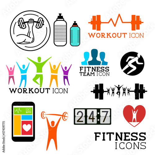 Health and Fitness Icons and Symbols