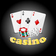 casino background.items for the casino on a dark background.vect