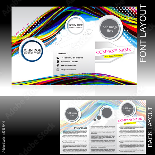 vecotr colorful wave brochure design