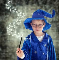 Zauberer mit magischen Kräften