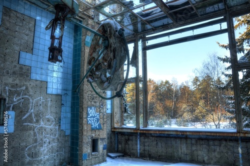 Abandoned operation hall in beelitz