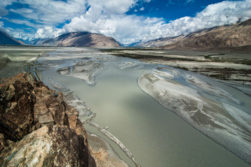 Shyok river at Nubra Valley. India, Ladakh