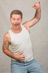 Dancing Man in Undershirt
