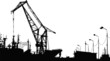 Vector Silhouette of the port crane