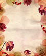 Obrazy na płótnie, fototapety, zdjęcia, fotoobrazy drukowane : Vintage background with roses