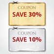 Sale print Coupons, Discount clothing labels. Cut off, shopping