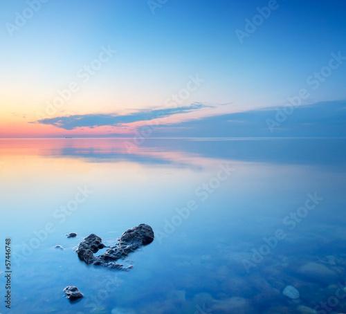 Seascape during sundown.