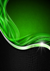 Green Black and Metal Business Background