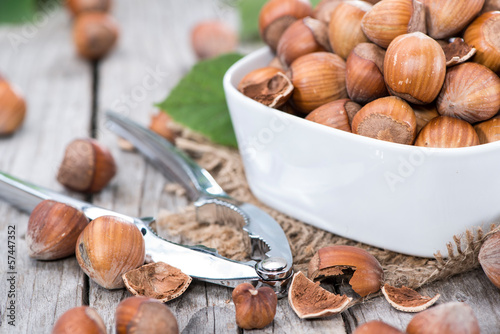 Portion of Hazelnuts