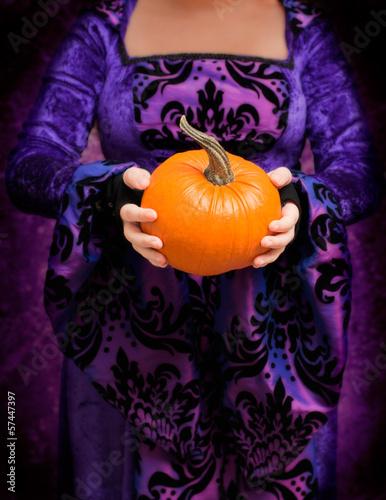 Holding Pumpkin