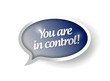 You are in control blue message bubble