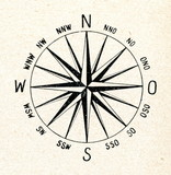 A 16-point compass rose