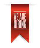 we are hiring textured banner illustration design