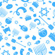 Seamless Israeli Holiday Pattern