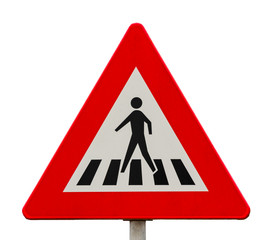 Traffic sign for pedestrian crossing