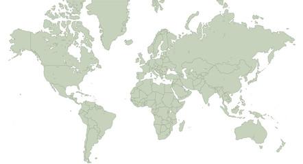 Planisfero vettoriale con confini nazioni