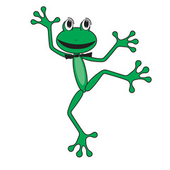 dancing happy green frog