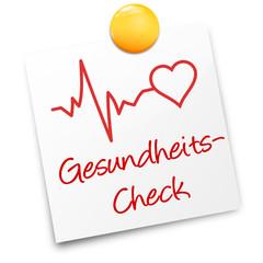 Zettel Herz Gesundheitscheck