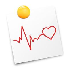 Zettel Herz Puls