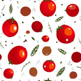Rad Canned Spicy Tomato Seamless Pattern