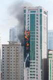 Skyscraper in fire - 57449958