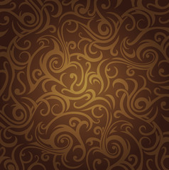 brown  vintage ornamental wallpaper design