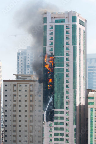 Skyscraper in fire
