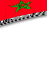 Designelement Flagge Marokko
