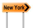 New York sign.