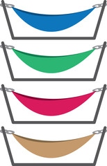 Hammocks with stand in different colors