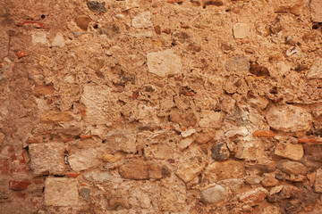 Plastered old wall