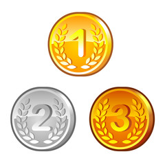 Medals with numerals