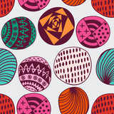 Seamless circle background, seamless pattern with round shapes