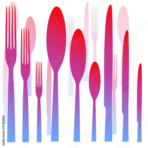 столовые пирборы-вилка нож ложка